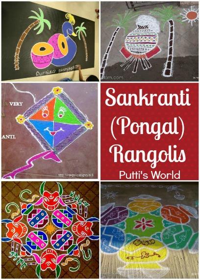 Sankranti Pongal Rangoli Kolam Kids Craft