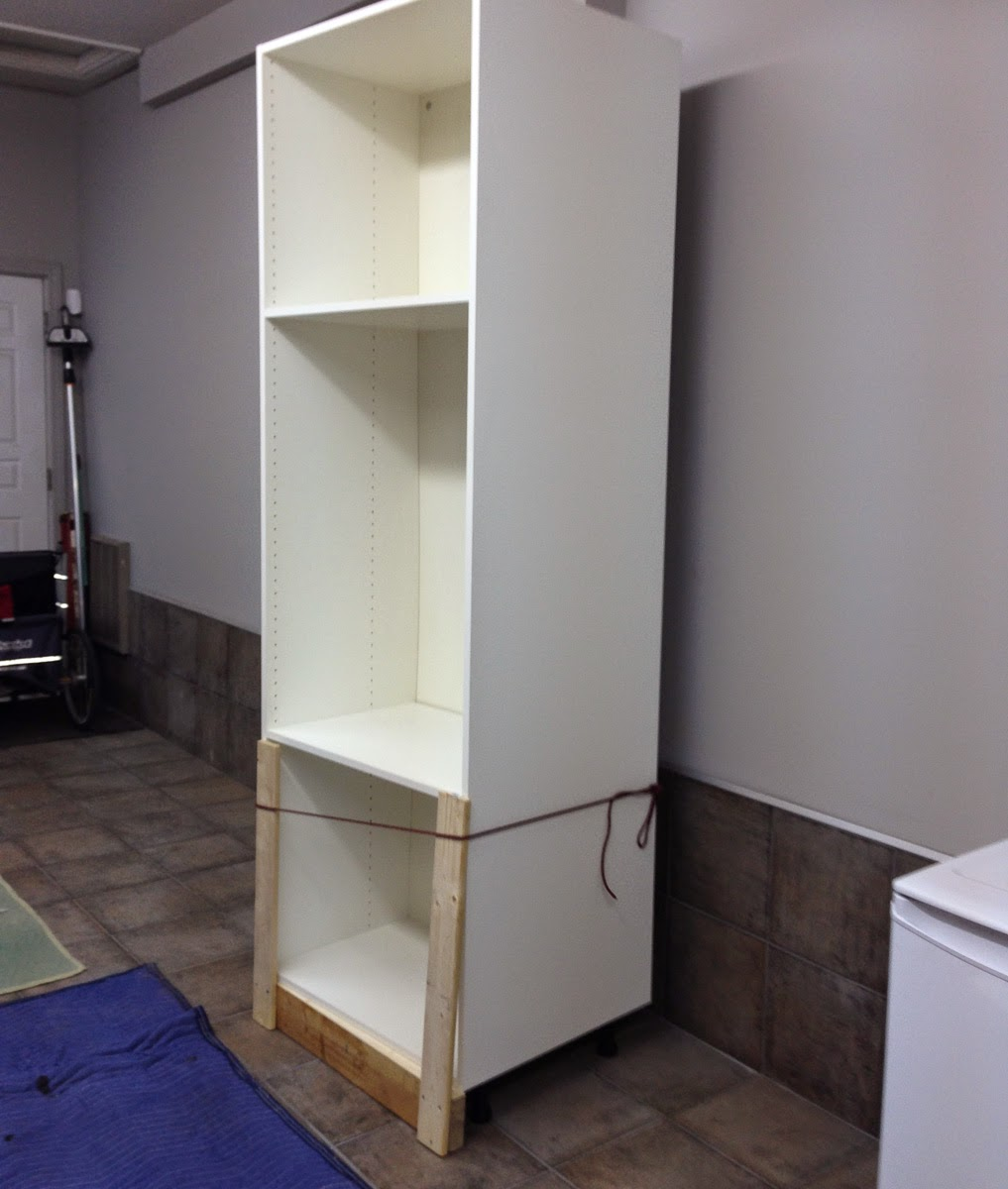 Jig For Tilting Wall Cabinets Vertical   You Wouldnu0027t Need This If You Had  A Second Person To Help You Lift These Vertically.