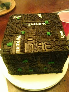 Cakes With Alt Borg Cube From Star Trek
