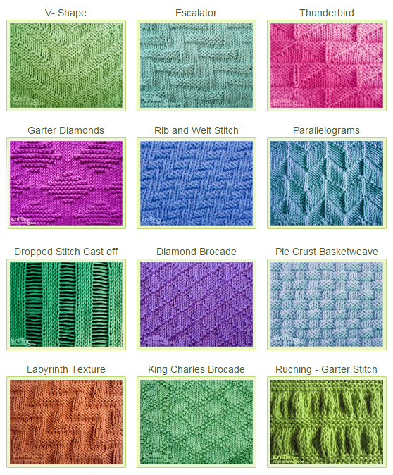 Knitting Stitches How To : Stitch Patterns Using Knit-Purl Combinations - Knitting Unlimited