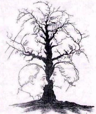 How many faces do you see on this tree, Quantas caras vêem nesta árvore