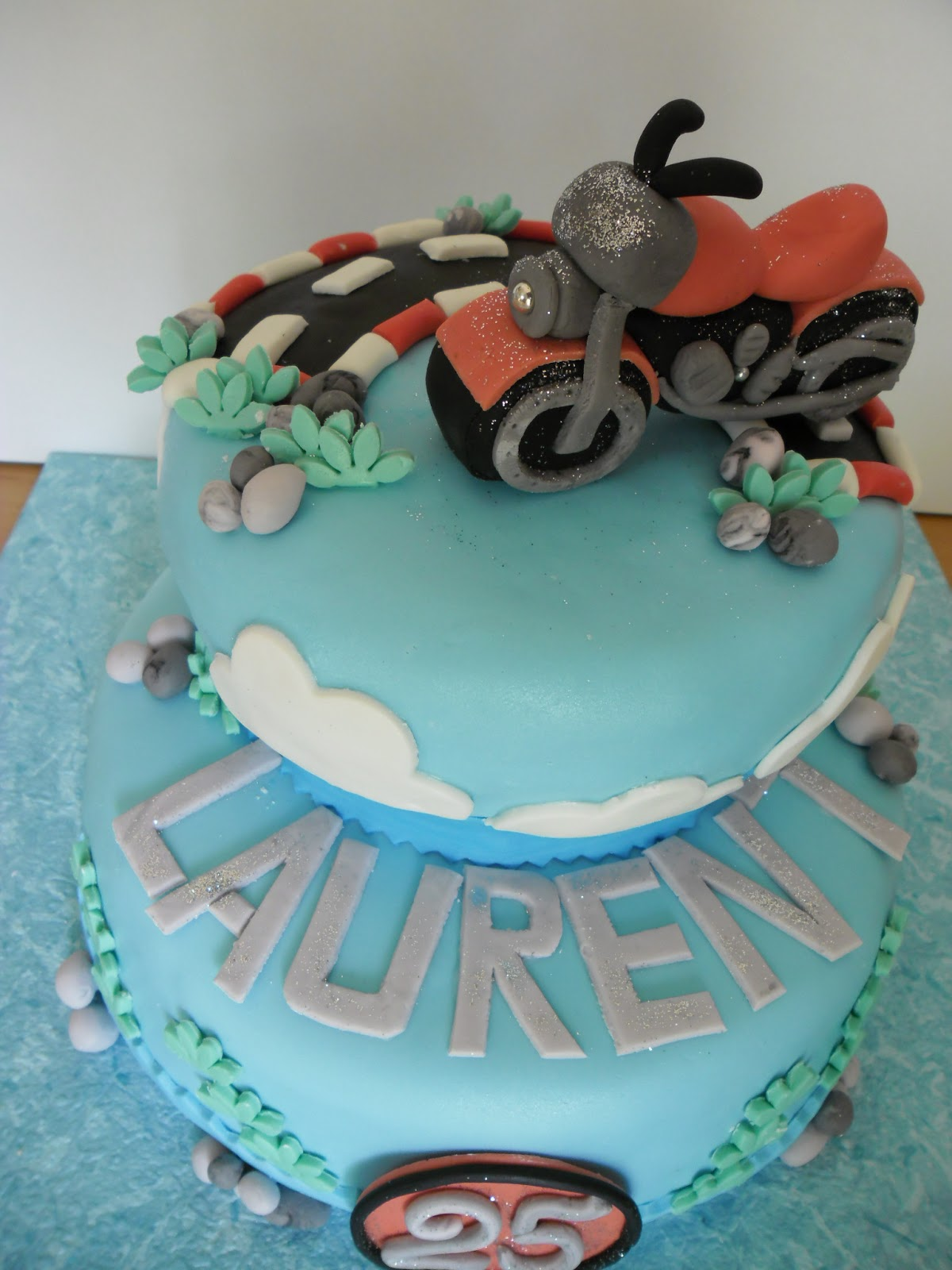 Extrêmement gâteau moto en pâte à sucre | GATEAUX D'ALINE EN33