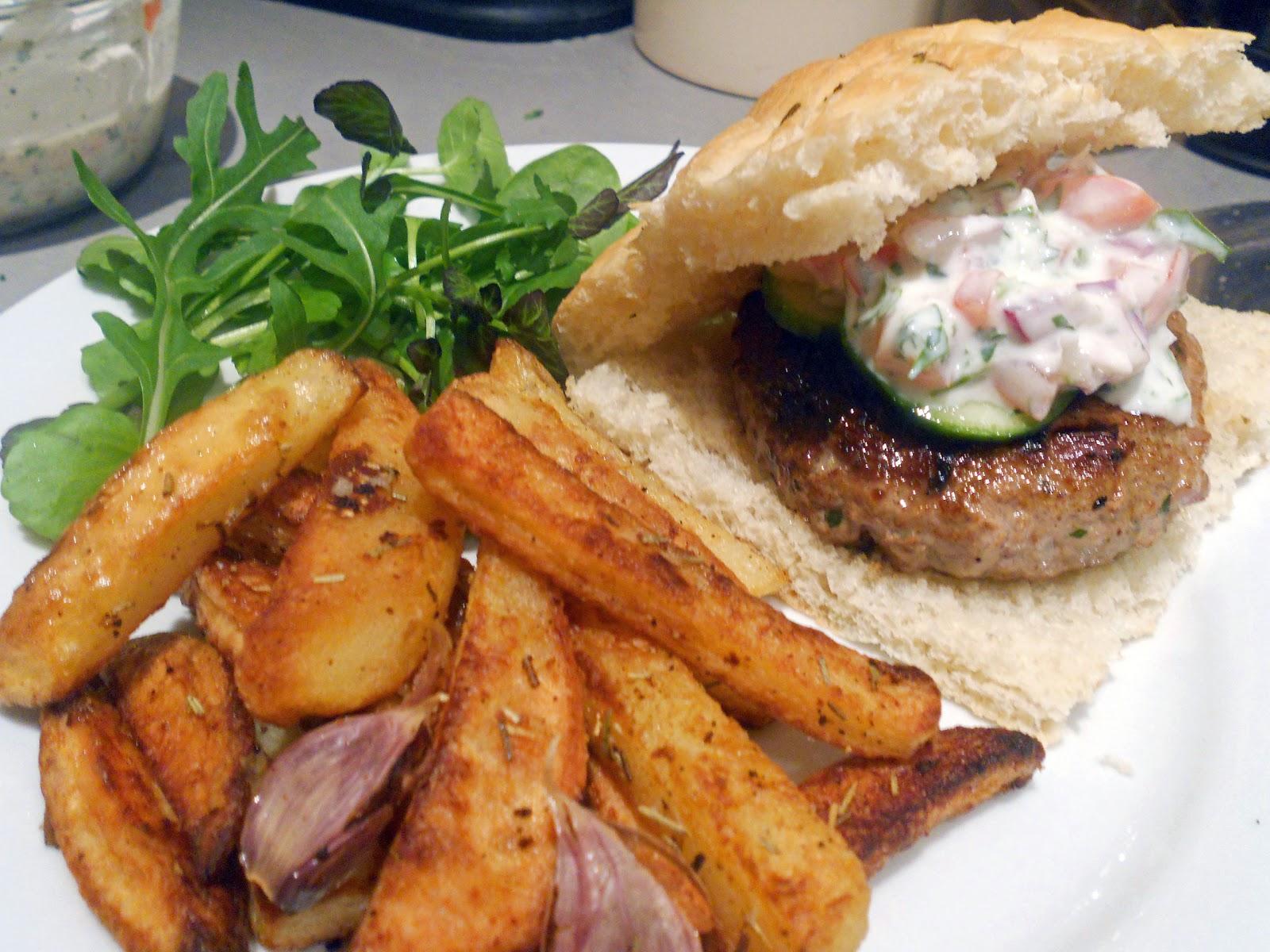 Fatboy's Kitchen: Minted Lamb Burgers