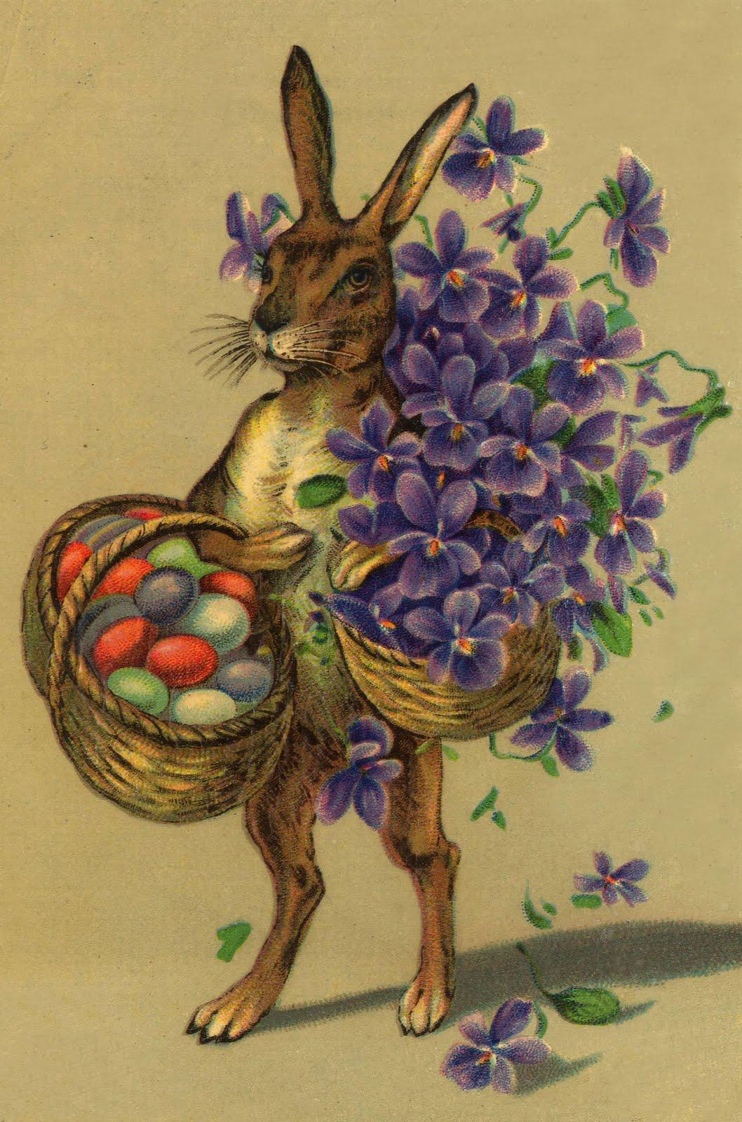 Праздник...  Легенда о пасхальном зайце впервые была документально упомянута в. в. В. 1680.