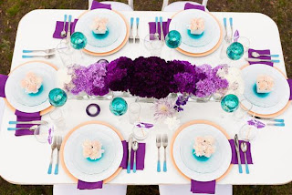 purple ombre' wedding flowers