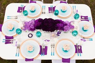 purple ombre' wedding flowers