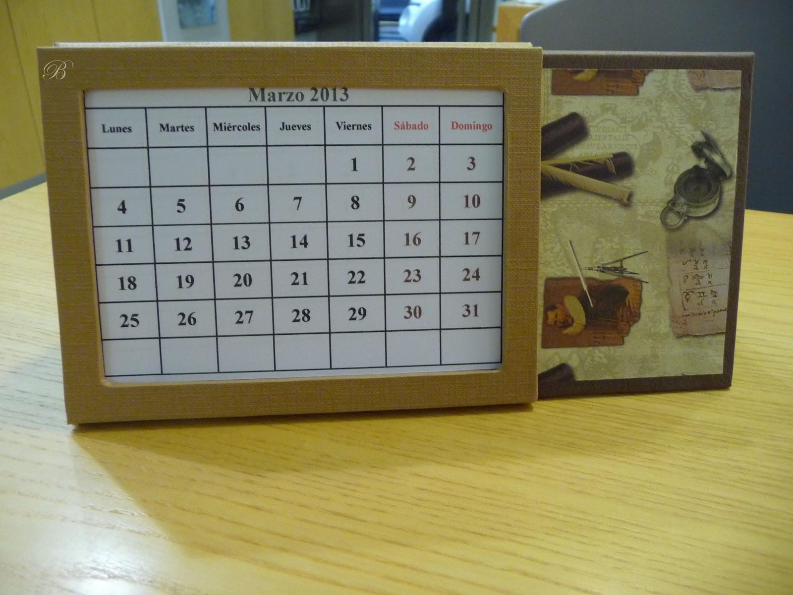 Las manualidades de blanca calendario perpetuo sobremesa for Calendario manualidades