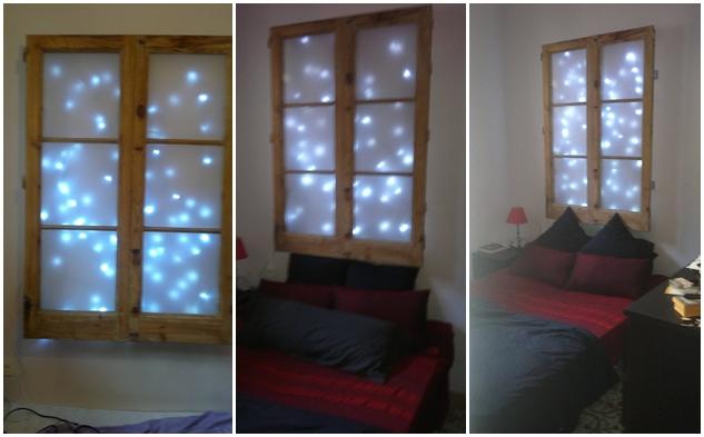 Diy un cabecero hecho con una ventana y luces led - Cabeceros de cama hechos a mano ...