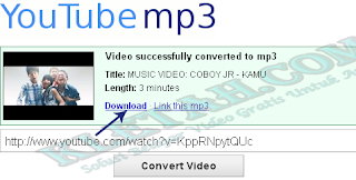 Preview Hasil Convert Video Menjadi MP3