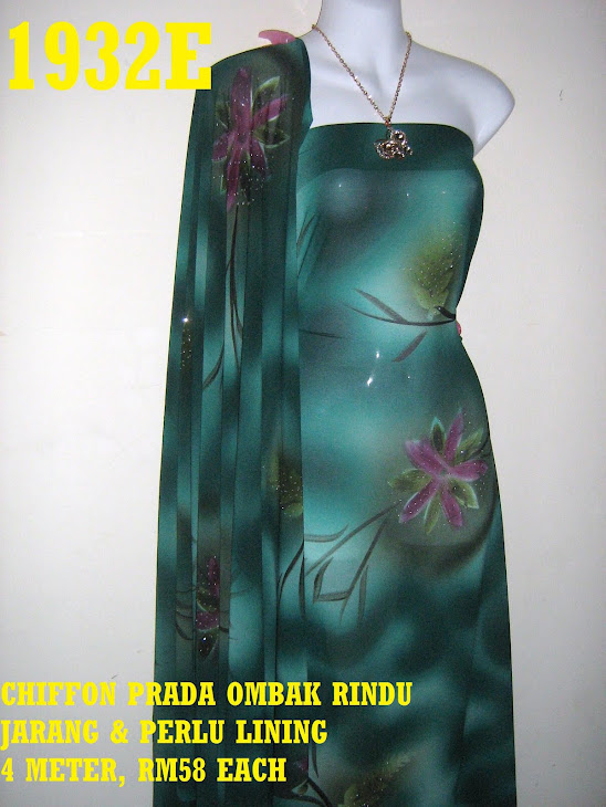 CP 1932E: CHIFFON PRADA OMBAK RINDU, JARANG DAN PERLU LINING, 4 METER