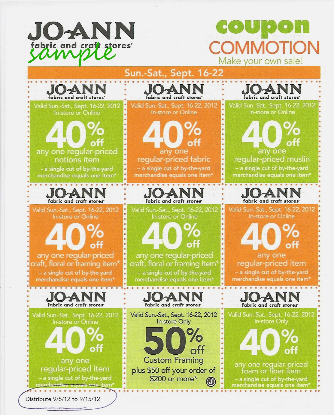 Joanns discount coupons