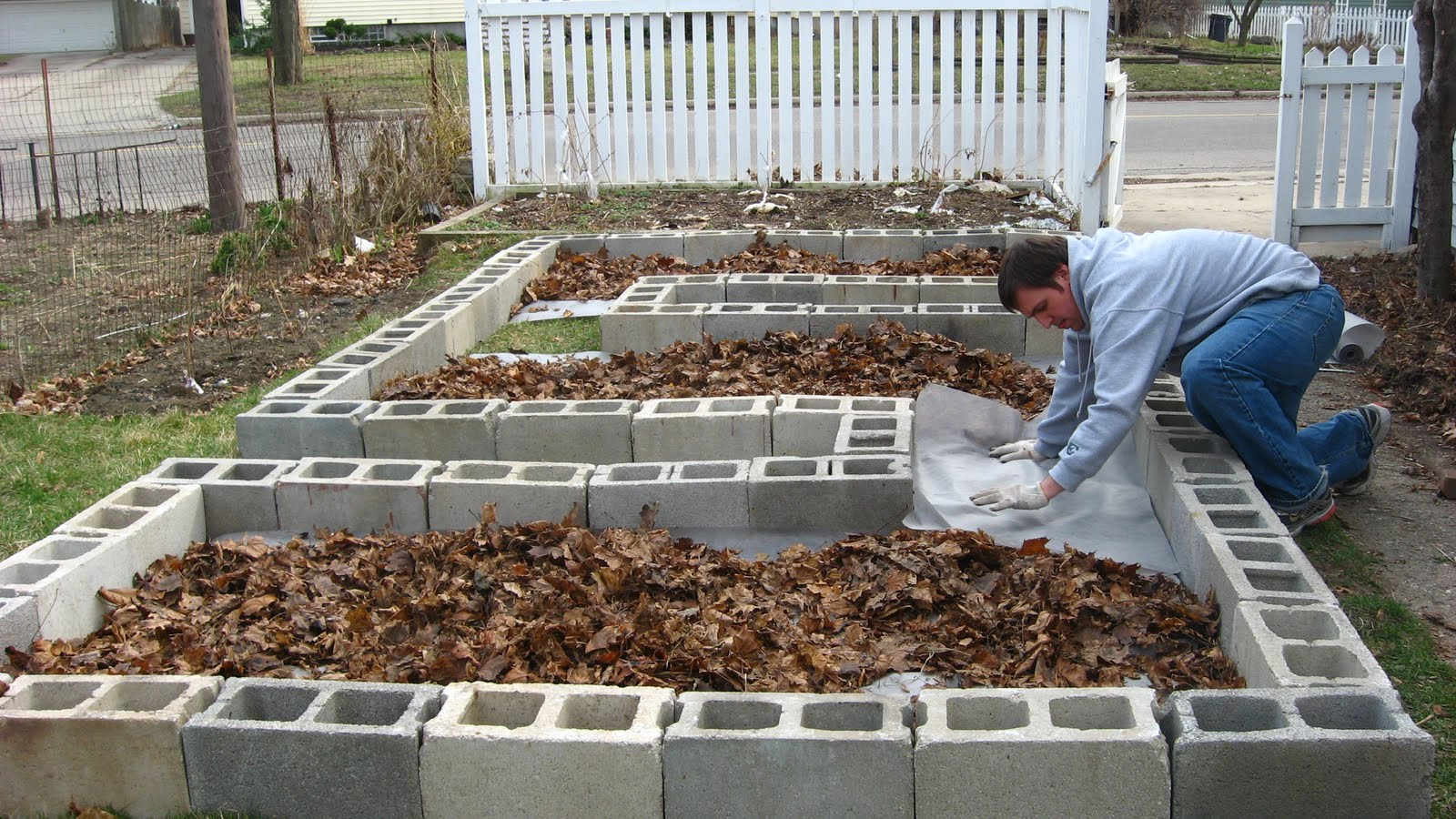Concrete Block Raised Bed Garden