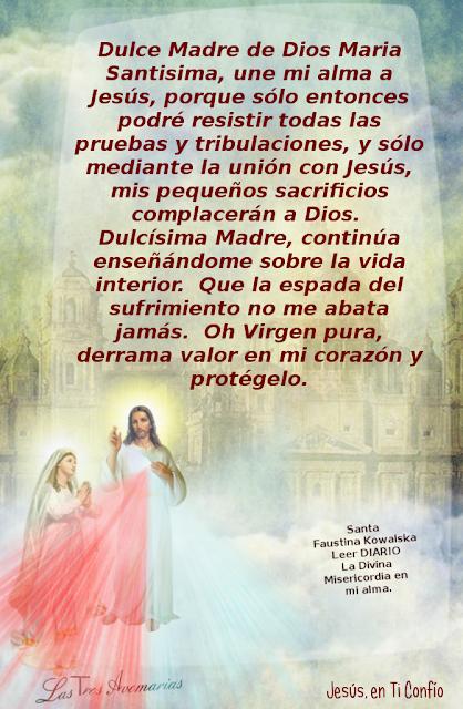 oracion a la dulce madre de dios