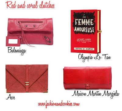 red and coral clutches love