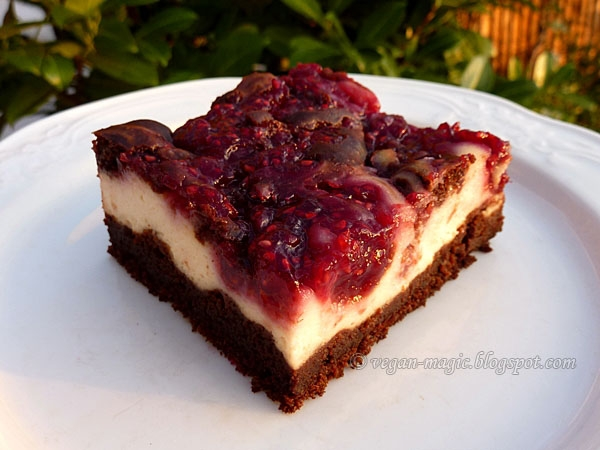 Raspberry Cheesecake Brownie « Vegan Recipes « Vegan Magic