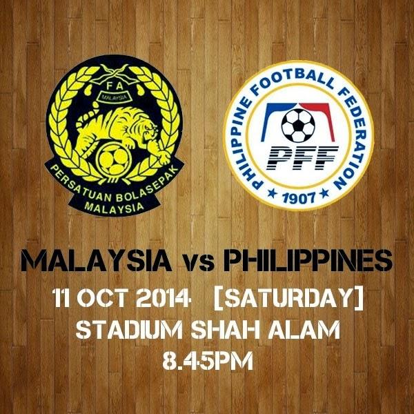 Live Streaming Bola Sepak Malaysia vs Filipina 11 Oktober 2014 Persahabatan Antarabangsa