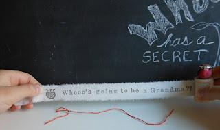 Pregnancy Announcement for Grandma on Scroll