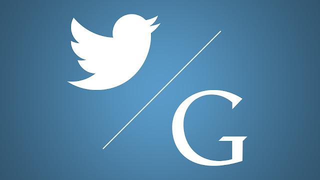 Twitter Logo versus the Google Logo
