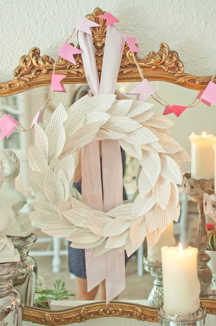 Book Pages Wreath