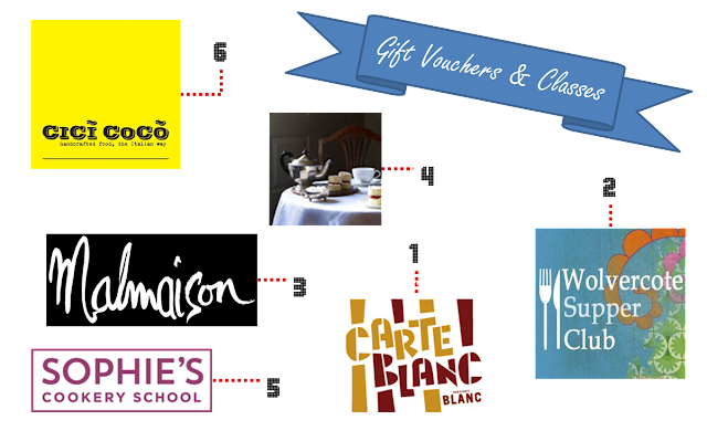 Dining and Cookery Class Gift Vouchers