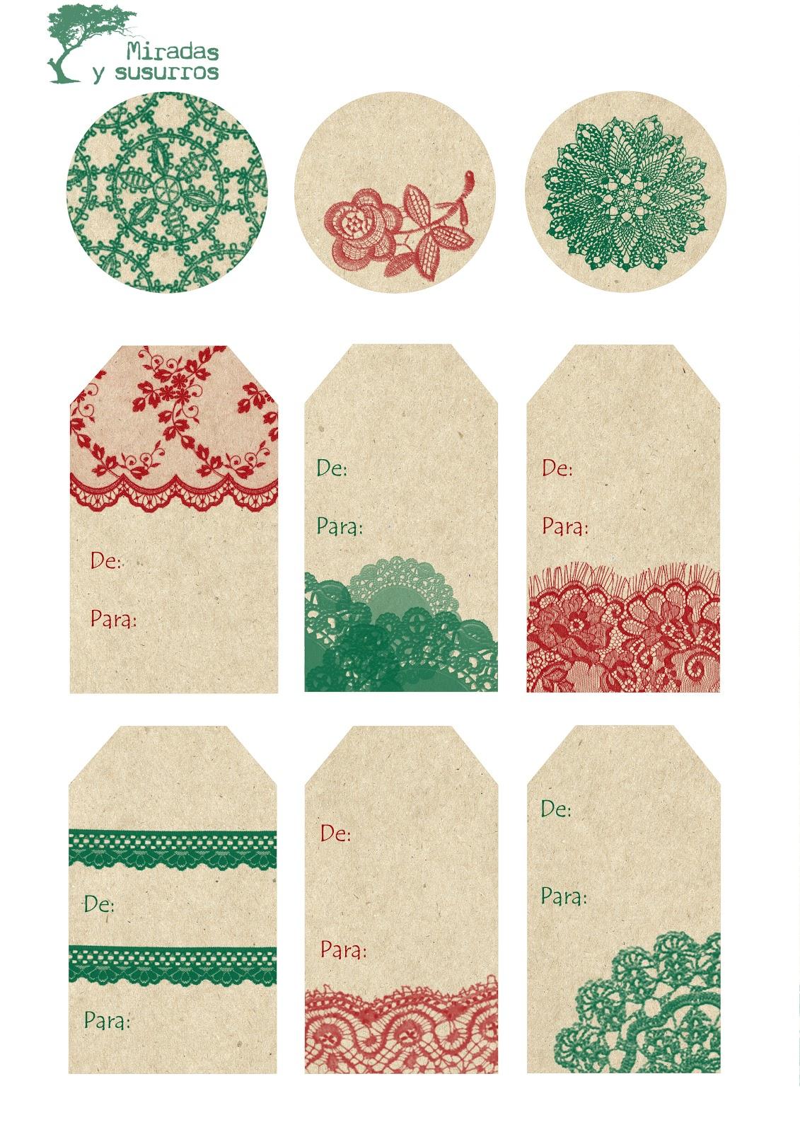 diy etiquetas para regalos miradas y susurros