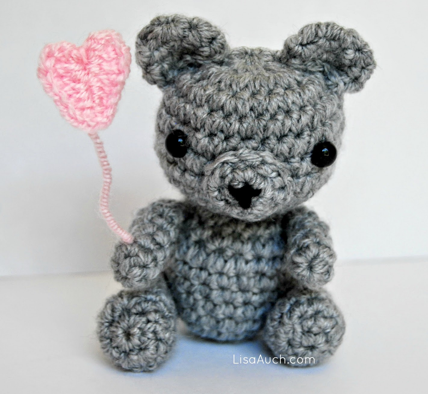 Free Crochet Bear Applique Pattern images