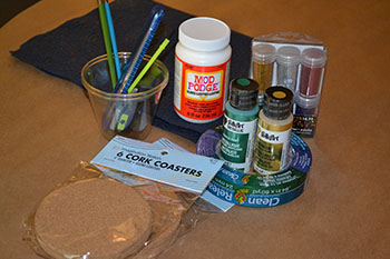 DIY Coaster Supplies (i.e. paint, tape, glitter) | Cordier Event Planning