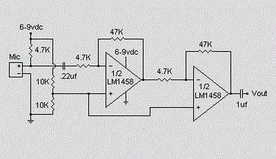 Pre lifier Circuit For Electret also C303w Rf likewise  on electret microphone enclosure