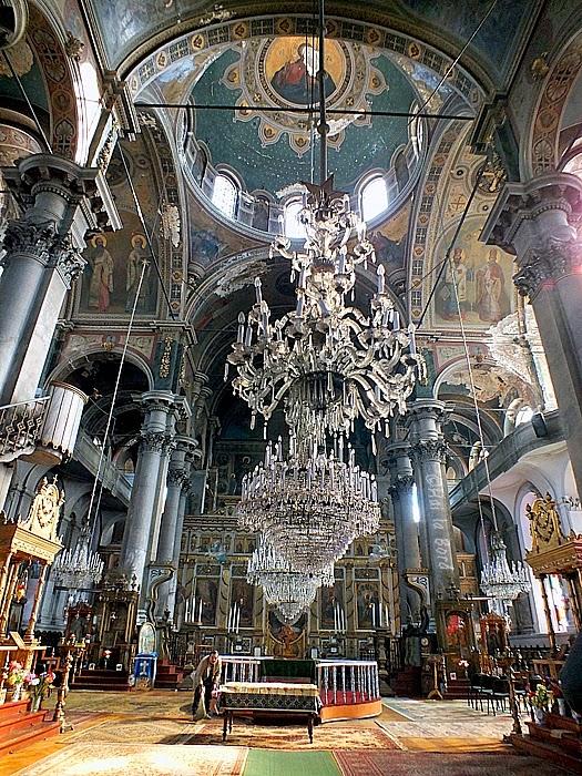 interior biserica greaca braila