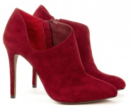 Oxblood Color Fall Trend. Oxblood Ankle Booties. Sole Society Helena Bootie.