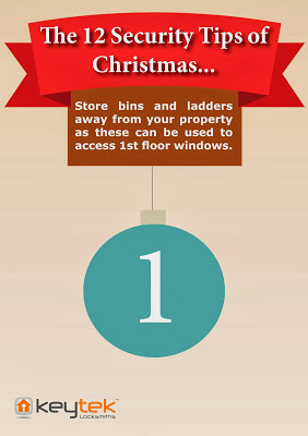 Keytek emergency locksmiths Tip 1 of The 12 Security Tips of Christmas