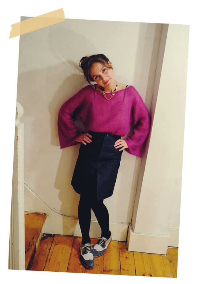 What I'm Wearing: Variations on a Denim Skirt #1