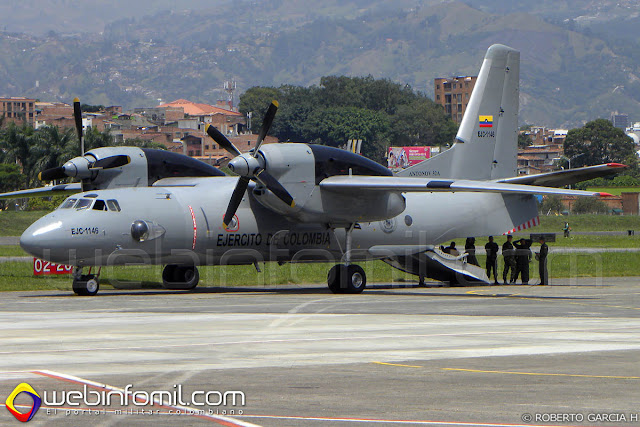 Antonov AN-32 de la División de Aviación Asalto Aéreo.