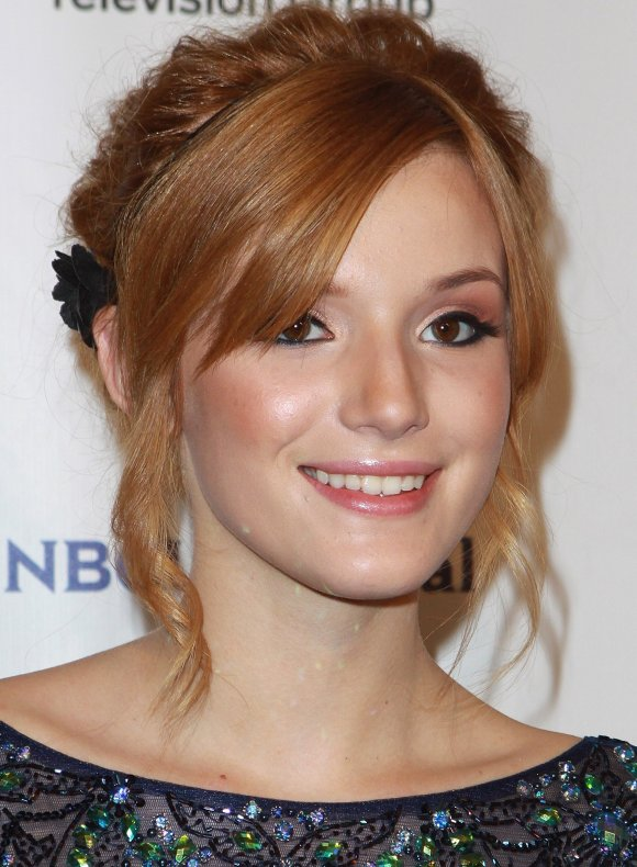 Bella Thorne Messy Updo Hairstyles 2013 Celebrity Haircuts Styles 2013