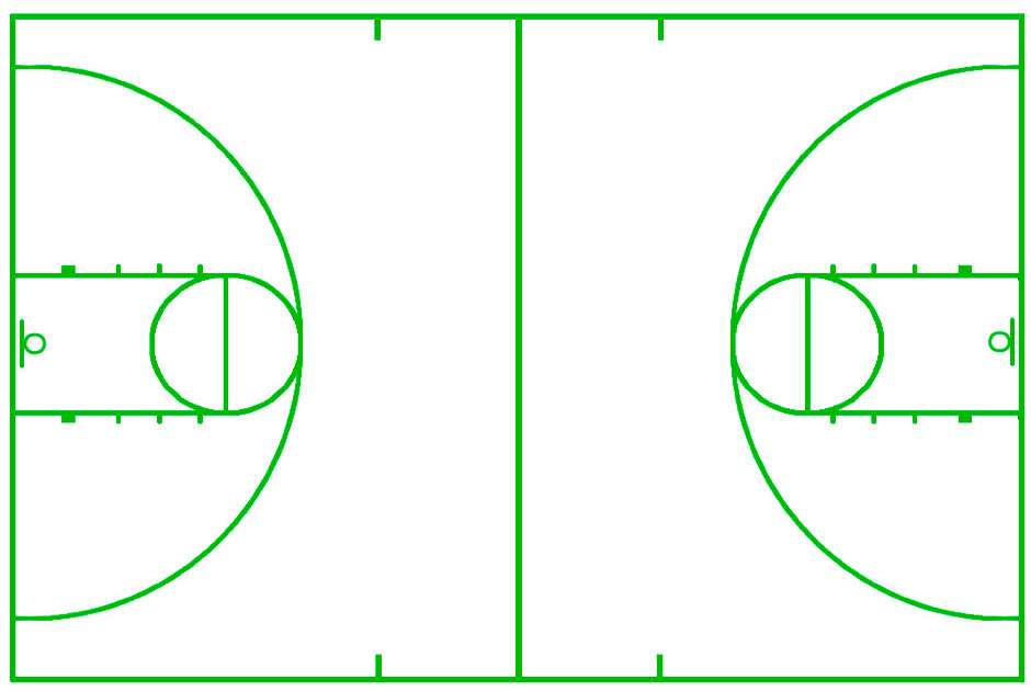 Basketball Court Template Cake Ideas and Designs