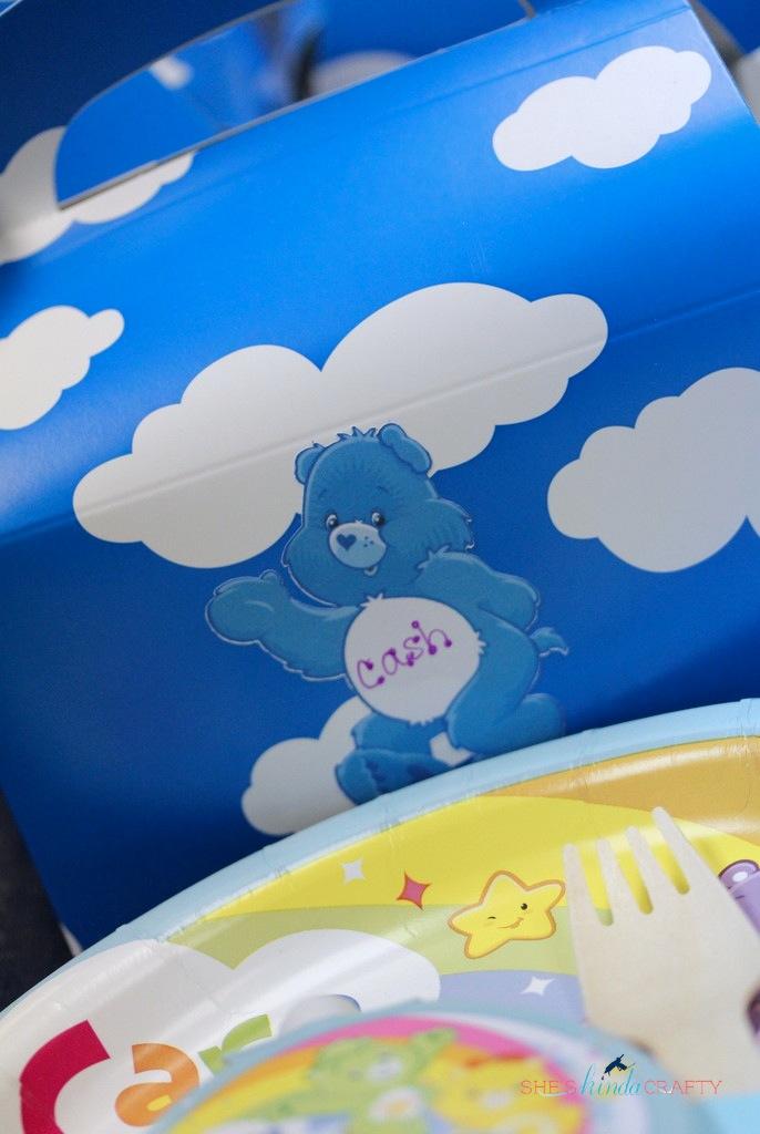 rainbow care bear 5th birthday party