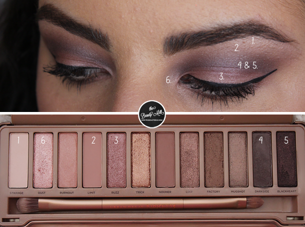 urban decay naked 3 makeup look