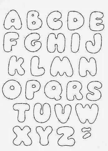 Letras em eva moldes