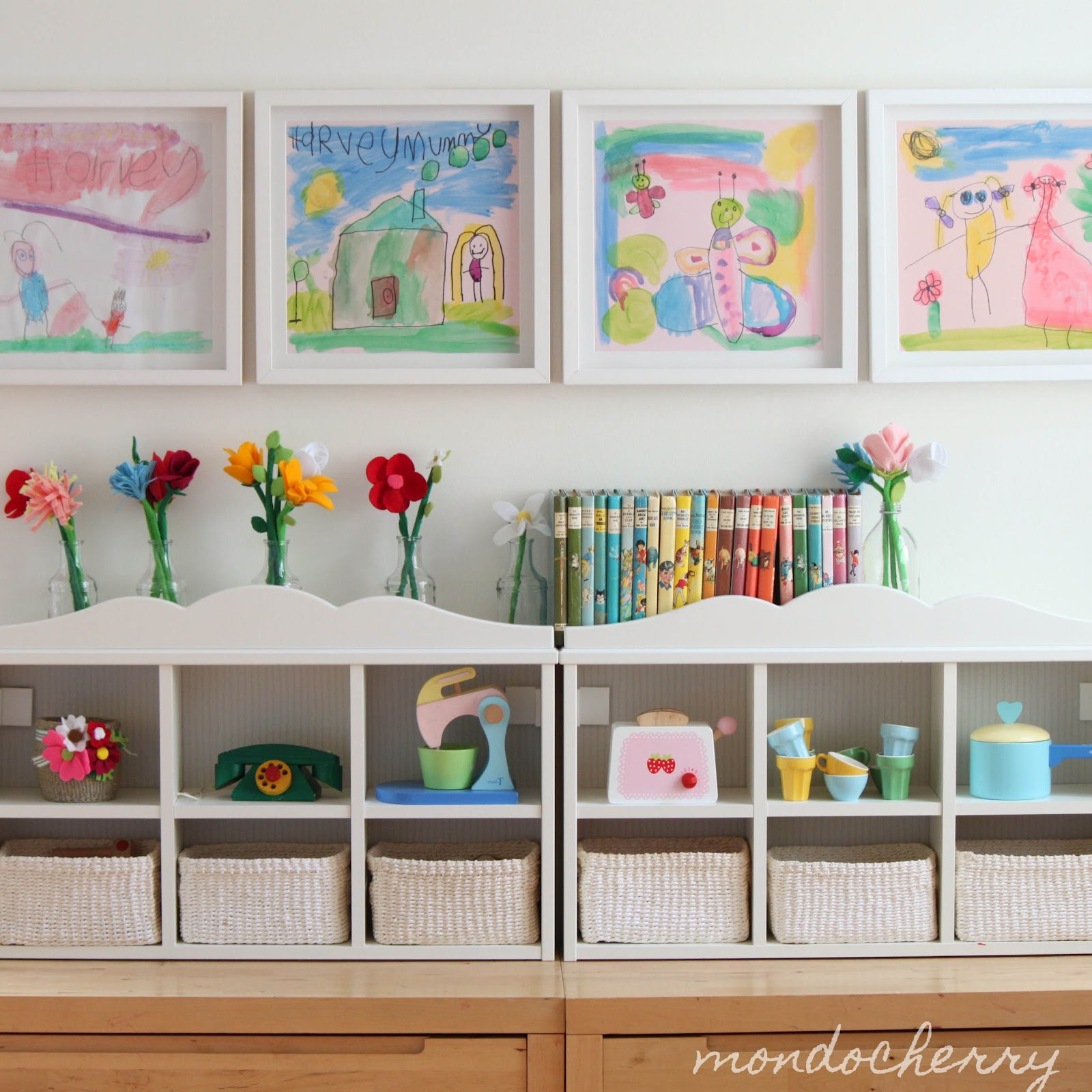 Childrens Art Work as home décor