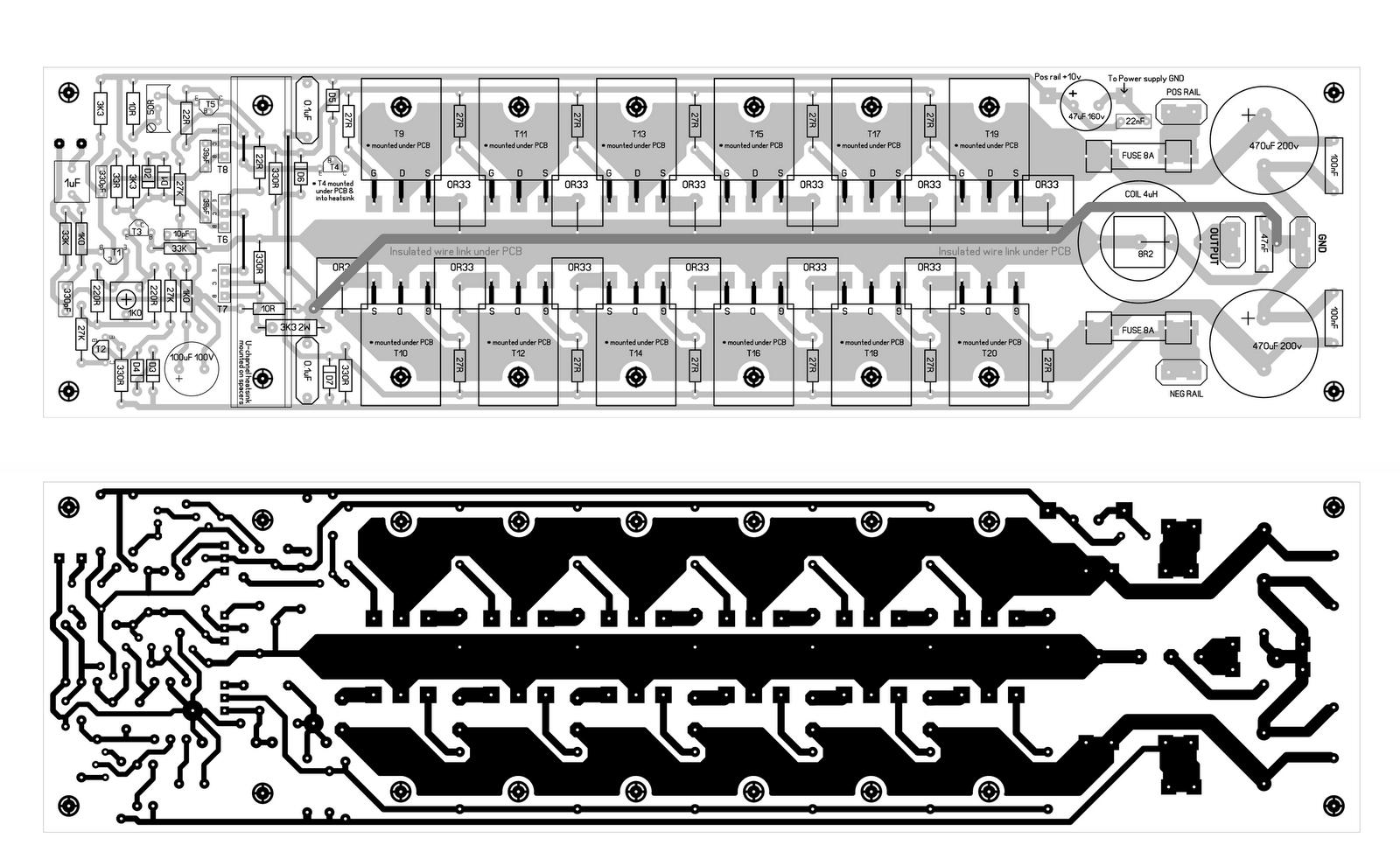Insider 500 Watt Amb Cercuit Pcb Layout 500w Power Inverter Circuit Using Transistor 2n3055 Electronic Design 600 Mosfet Amplifier