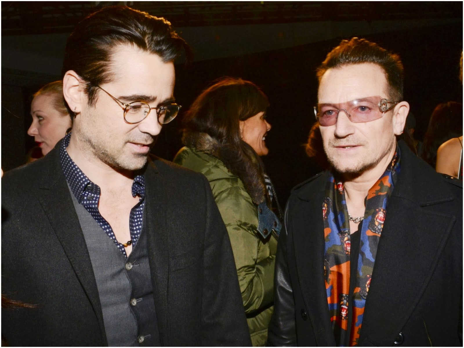 Bono's Givenchy camouflage scarf - New York Fashion Week FW14