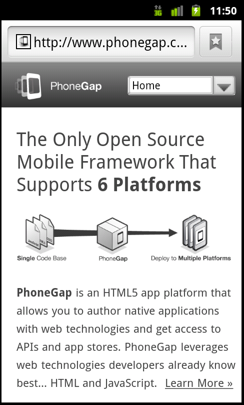 Phonegap Childbrowser Plugin