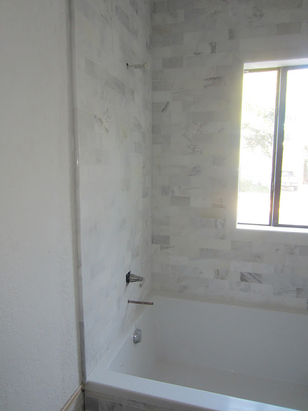 The Cuban In My Coffee Master Bathroom Progress Carrara Marble