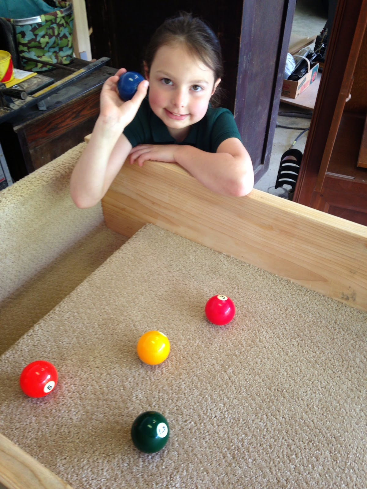 Next, We Vacuumed The Top, And Pulled Out The Billiard Balls And Started  Playing.