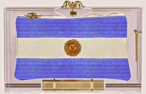 Charlotte Olympia bag pandora para o Mundial bandeira Argentina