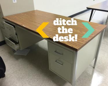 Teacher Desk In Classroom