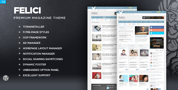 Image for Felici – Magazine Theme by ThemeForest
