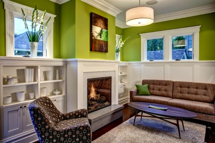 Green Living Room Designs With Green Walls Part 87