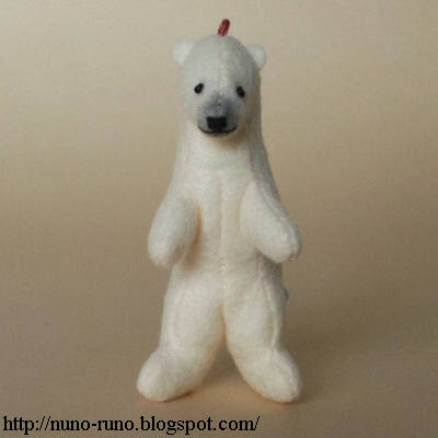 Mini polar bear