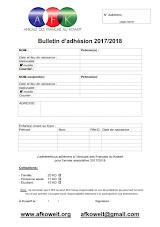 Tarifs Affiliations 2017 - 2018